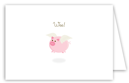 When Pink Pigs Fly Note Card
