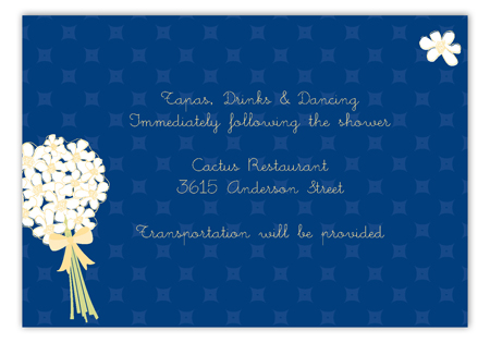 White Bouquet Enclosure Card