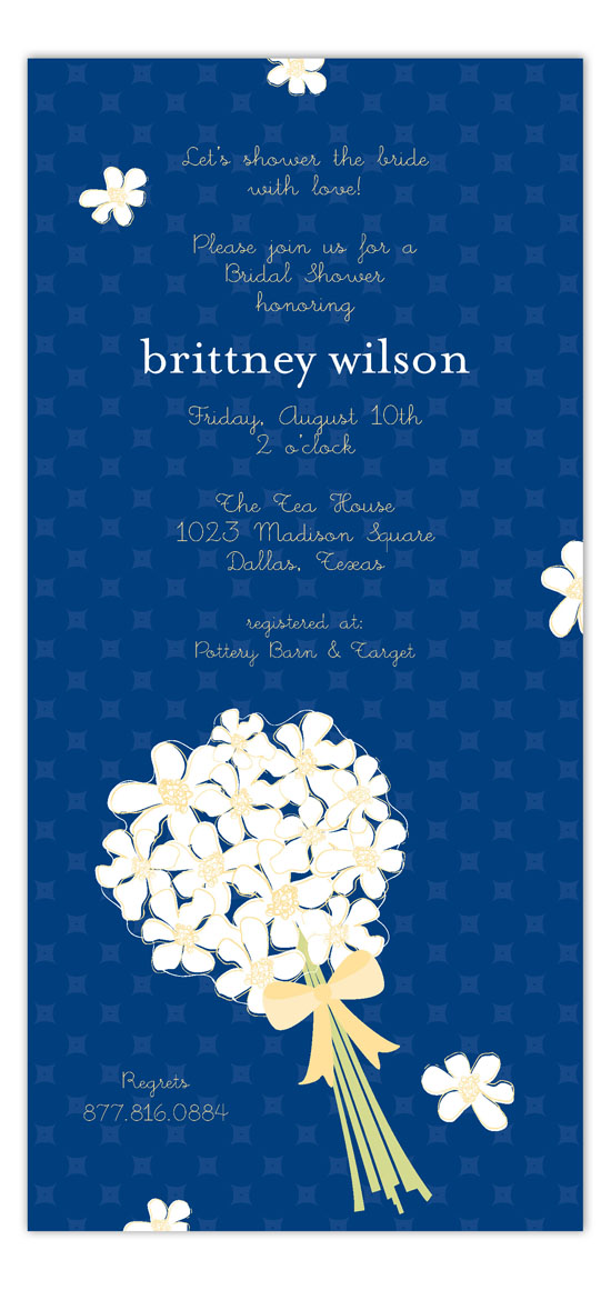White Bouquet Invitation