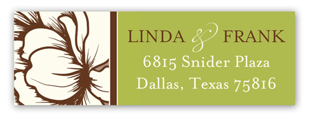 White Magnolia Address Label