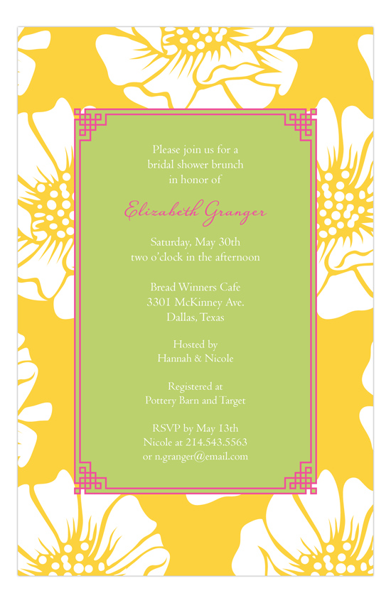White Poppy Invitation
