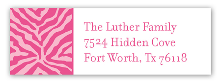 Wild About Love Pink Address Label