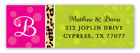 Wild Christmas Cocktails Address Label