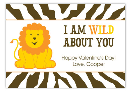 Wild For You Valentine Card