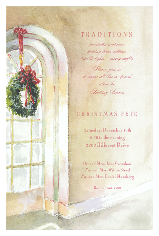 Window Wreath Invitation