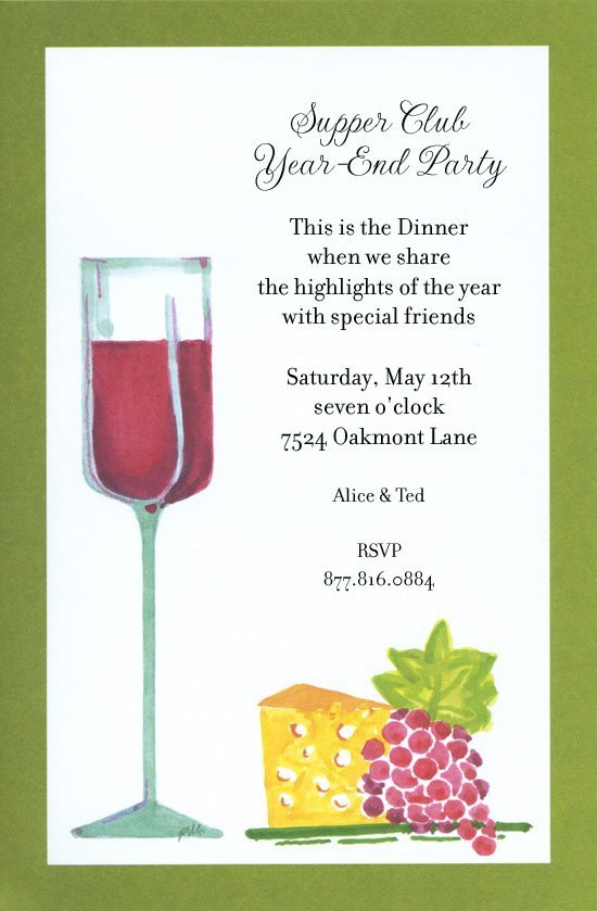 Wine and Cheese Party Invitations – Champagne Party Invitations
