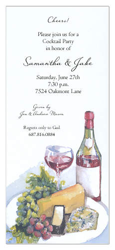 Wine and Cheese Invitation | wine and cheese party-invitations