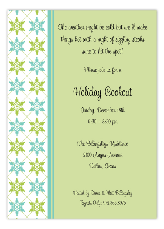 Winter Crystals Invitation