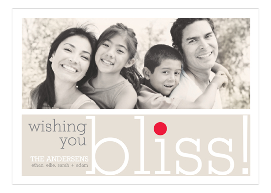 Wishing You Bliss Photo Card