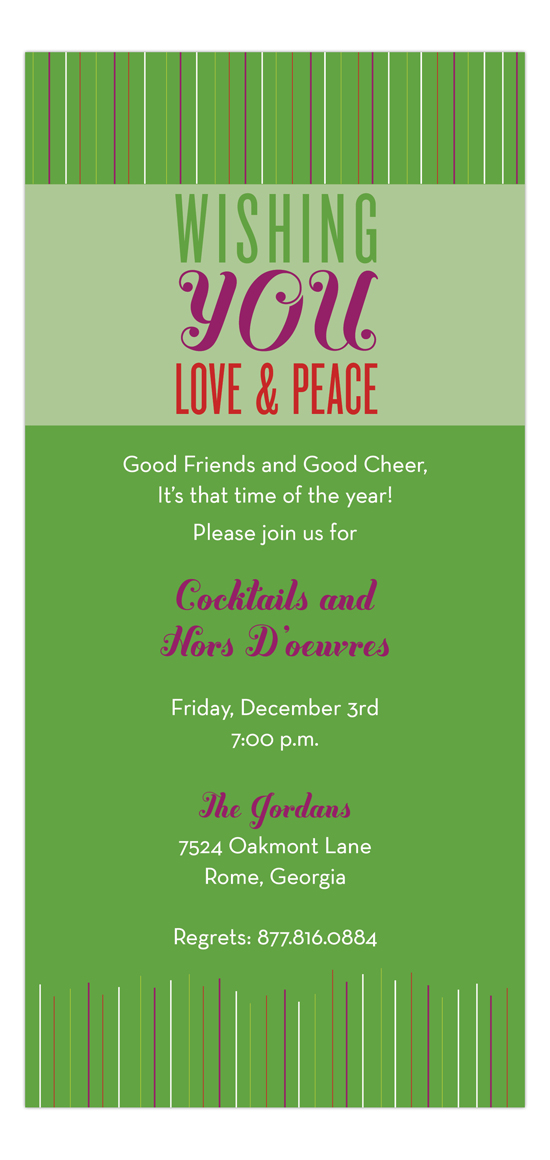 Wishing You Love & Peace Invitation