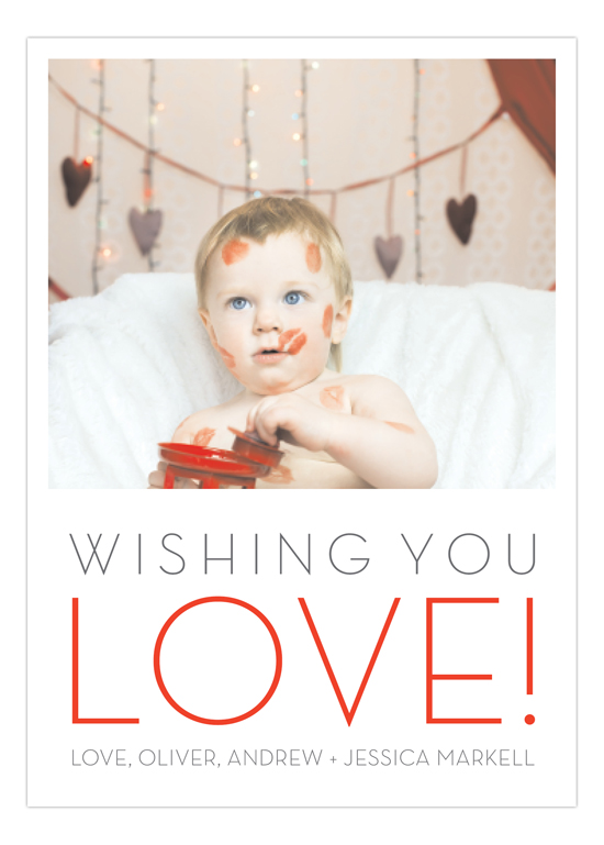 Wishing You Love Photo Card