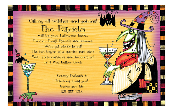 Witchs Cocktail Invitation