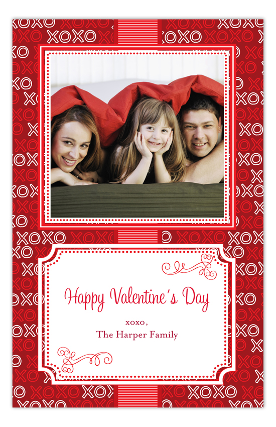 XOXO Happy Valentines Day Photo Cards