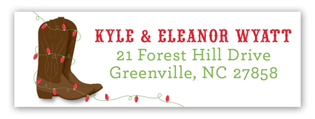 Yeehaw Holiday Address Label