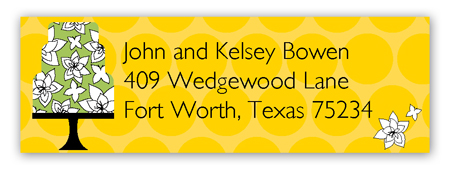 Yellow Flying Floral Address Label