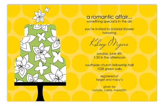 Yellow Flying Floral Invitation