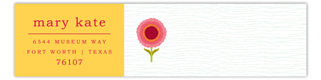 Yellow Sunny Flower Envelope Wrap