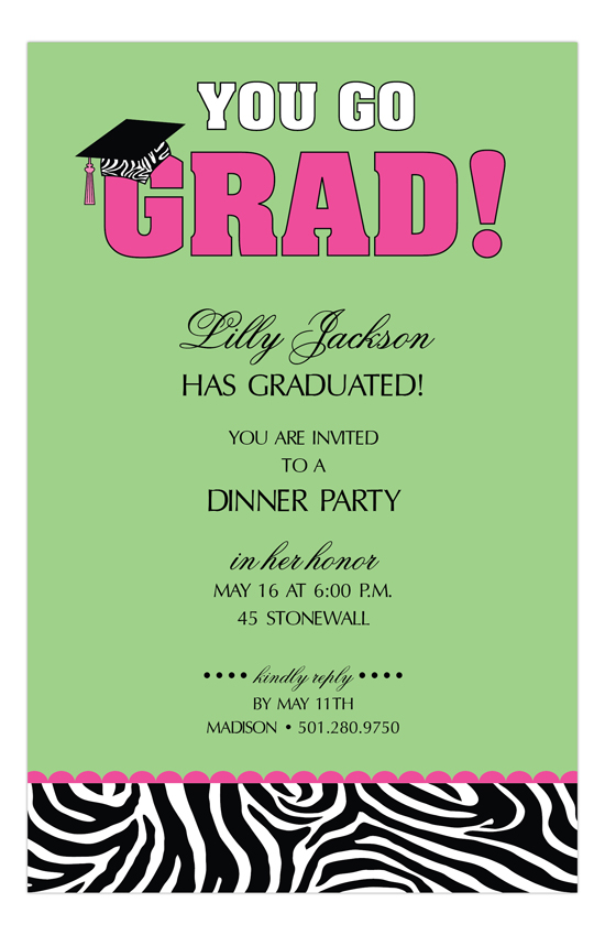 You Go Grad College Graduation Announcements Invitation