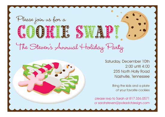 Yummy Cookie Swap Invitation