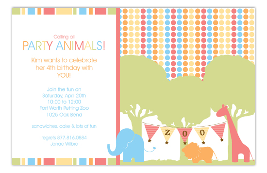 Zoo Trip Invitation