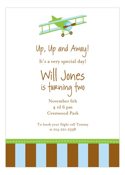 Kids party wording ideas polka dot design airplane invitation stopboris Image collections