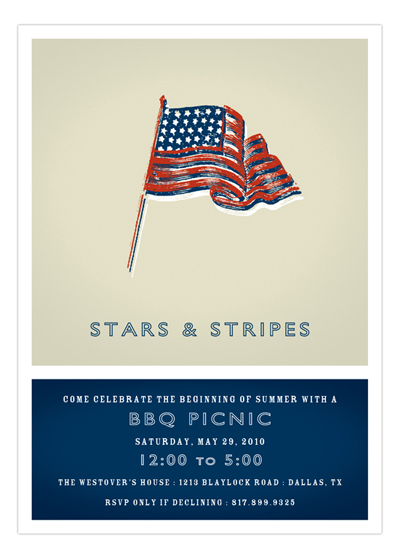 Americana Flag Invitation
