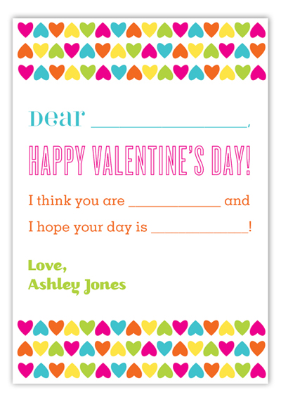 Valentines Day Wording Ideas Polka Dot Design – Create Your Own Valentines Card