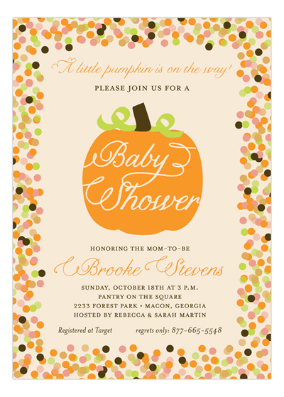 Fall and Thanksgiving Party Wording Ideas Polka Dot Design – Thanksgiving Party Invitation Wording
