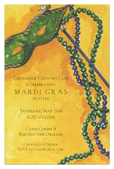 mardi gras wording ideas and sample text   polka dot design