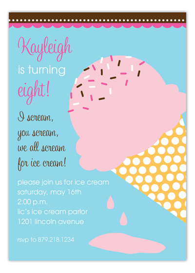 Kids Party Wording Ideas Polka Dot Design – Birthday Party Invitation Words