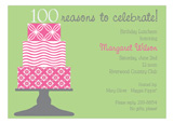 100 Candles on the Cake 100th Birthday Invitations