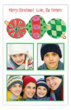 3 Ornament Stack Photo Card