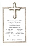 Pewter Cross First Communion Invitation