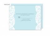 Blue Lace Wedding Suite Response Card