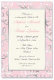Blush Silver Foil Invitation on Ivory