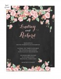 Chalkboard Floral Wedding Suite Invitation
