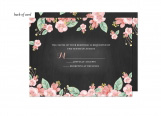 Chalkboard Floral Wedding Suite Response Card