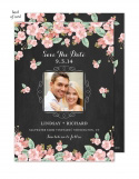 Chalkboard Floral Wedding Suite Save the Date