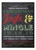 Chalkboard Christmas Invitation