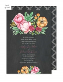 Elegant Bouquet Wedding Suite Invitation