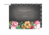 Elegant Bouquet Wedding Suite Response Card