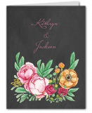 Elegant Bouquet Wedding Suite Thank You Note