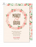 Floral Wreath Wedding Suite Invitation