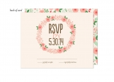 Floral Wreath Wedding Suite Response Card