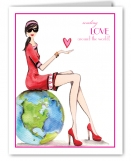 Love Around the World Valentine Card