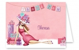Lounging Lady Thank You Note