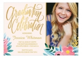 Floral Whimsy High School Graduation Announcements