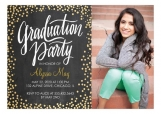 Golden Confetti Grad Invitation High School Graduation Announcements
