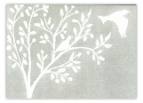 Dove Gray Folded Note