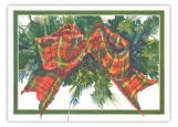 Tartan Green Christmas Card